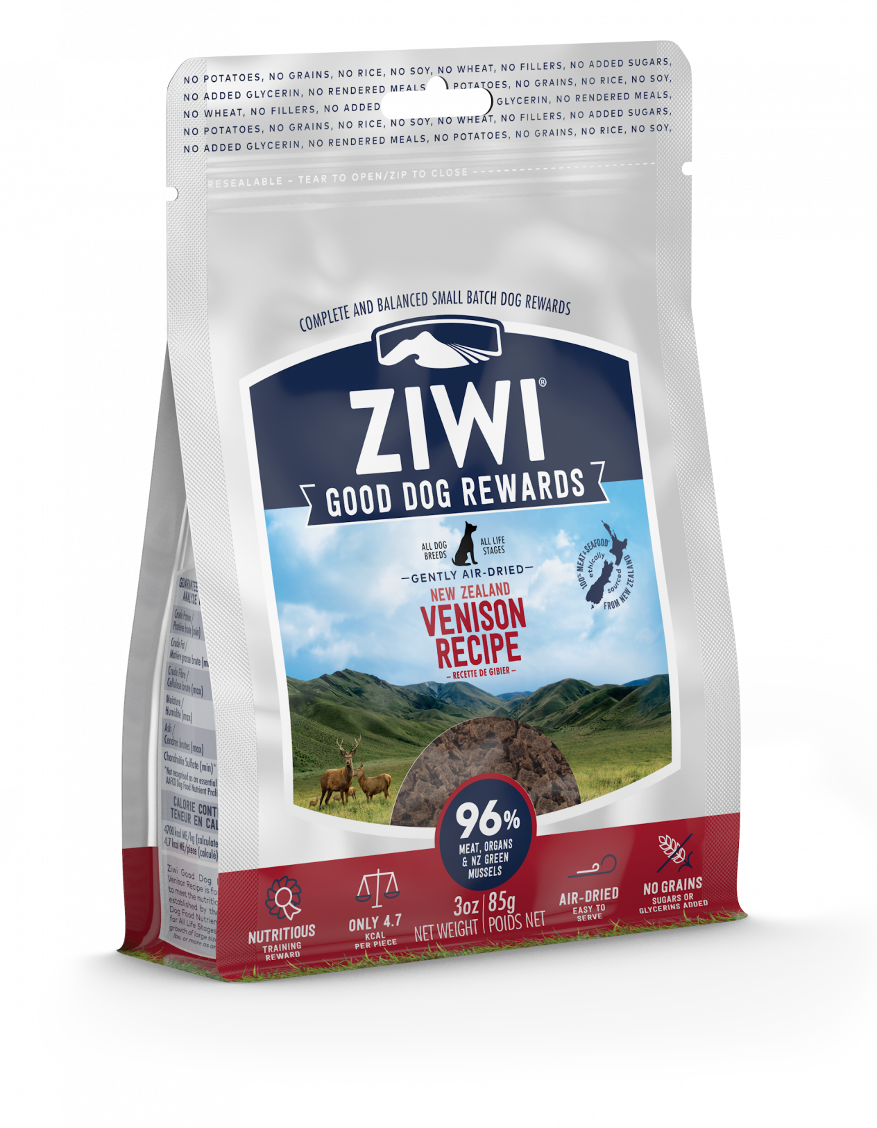 ZIWI Peak Air-Dried Venison Good Dog Rewards 85g