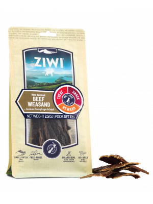 ZIWI Beef Weasand Front of Pack with Chews
