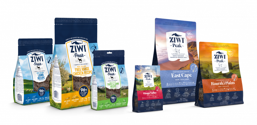 ZIWI Peak Air Dried Dog Recipe Range