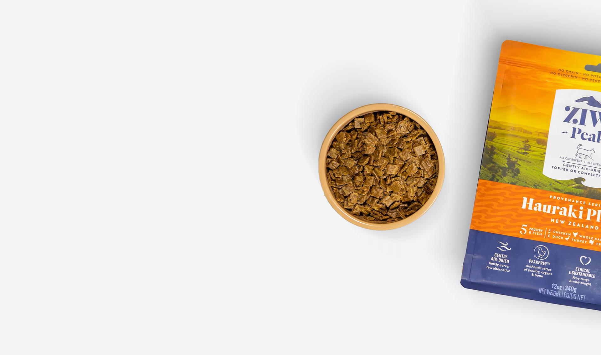 ZIWI Pet Food made from natural air-dried ingredients