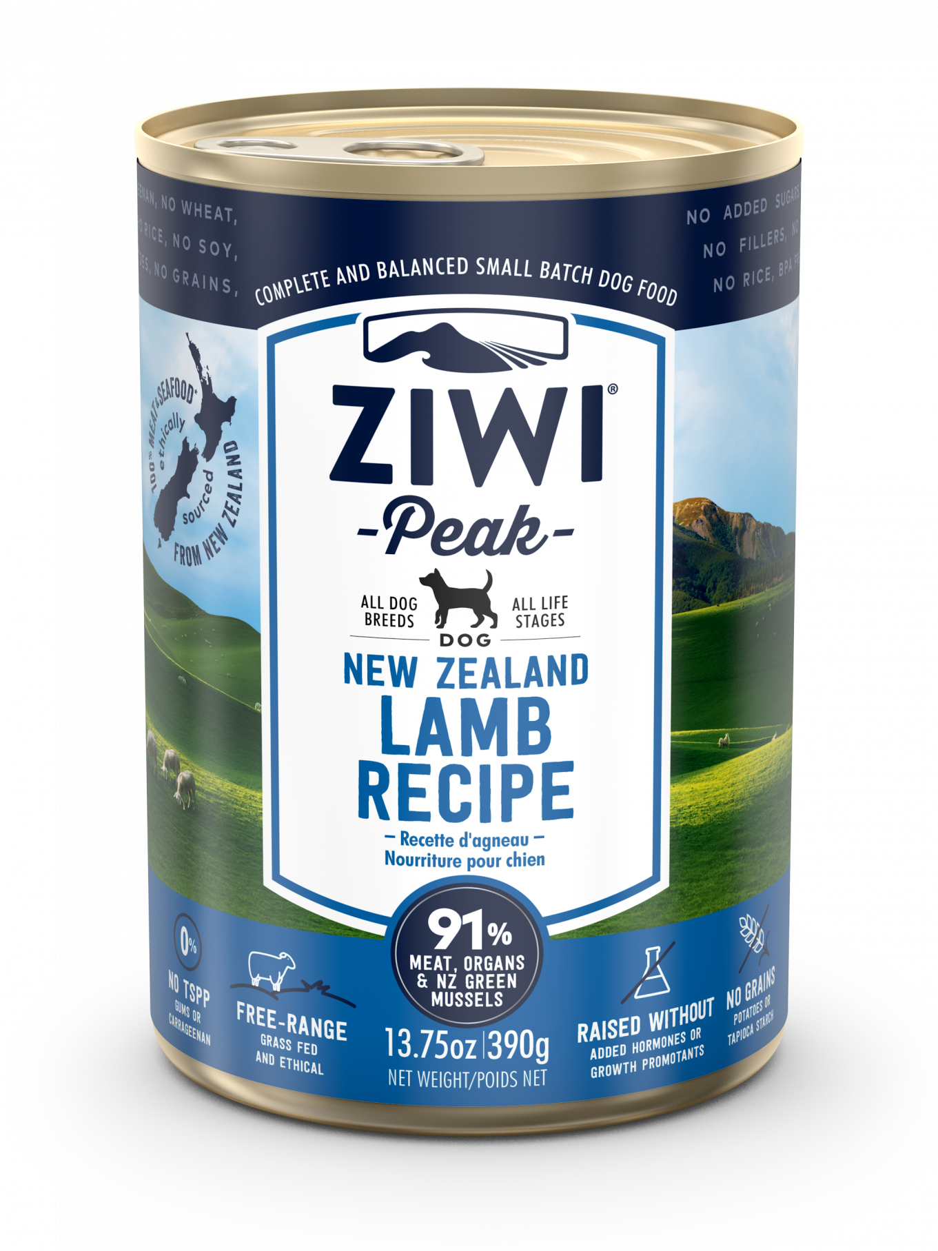 Ziwi Peak Lamb Dog Can 390g Front View